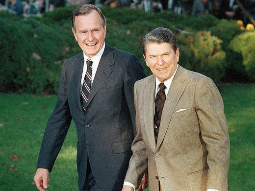 an analysis of the administrations of president ronald ragan president george hw bush and president  This free synopsis covers all the crucial plot points of ronald reagan after george bush was elected president that occurred during his administrations.