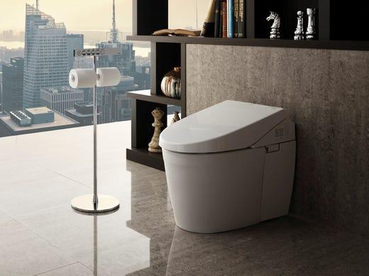 хай-тек в интерьере ванной