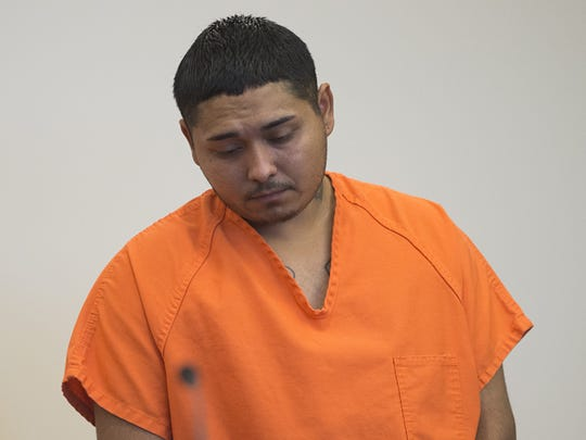 Juan Canales-Hernandez appears in court Friday, September 16, 2016. The 24-year-old was arrested September 8 after the convicted child abuser caused injuries that lead the death of a baby.
