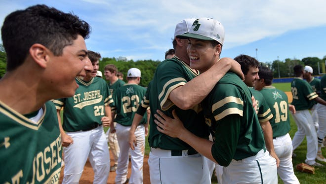 Led by ace pitcher Devin Ortiz (right), St. Joseph enters the 2017 season ranked No. 1 in The Record baseball Top 25.