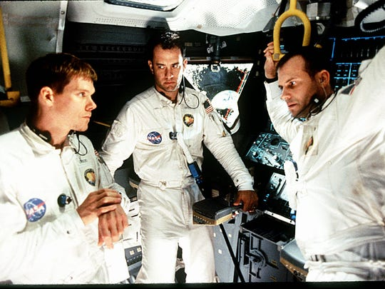 Kevin Bacon, left, Tom Hanks and Bill Paxton starred as the crew of an ill-fated lunar mission in 'Apollo 13.'