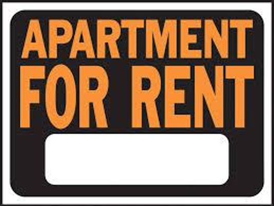 Apt rent sign