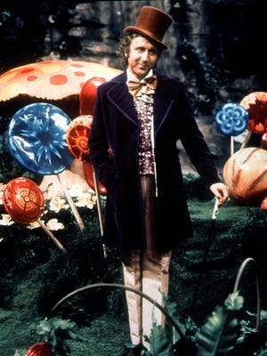 Gene Wilder plays the witty and semi-terrifying Willy Wonka in the classic 1971 film.