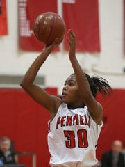Senior forward Makaila Wilson is a two-time All-Greater Rochester pick who just eclipsed the 1,000-point mark for Penfield.