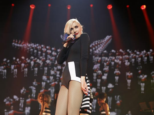 Gwen Stefani performs in a concert presented by MasterCard