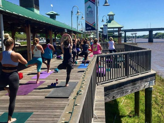 Join Venlis Rivera for ourdoor yoga 2-3 p.m. Sunday