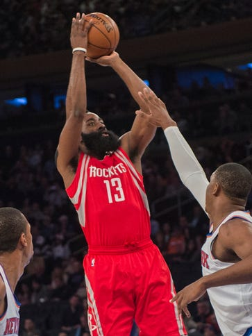 James Harden scored a team-high 26 points for the Rockets.