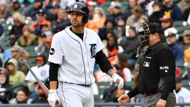 Tigers' Nick Castellanos is 7-for-44 at the plate after the sixth inning this season.