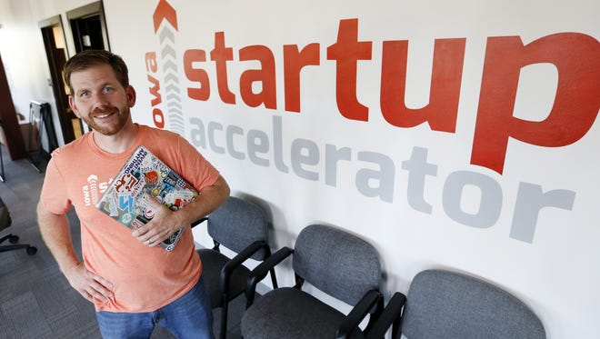 Iowa Startup Accelerator Managing Director David Tominsky on July 29, 2015.