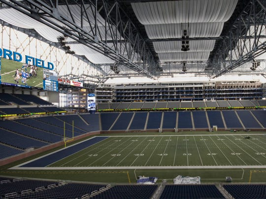 How the new video boards at Ford Field will look.