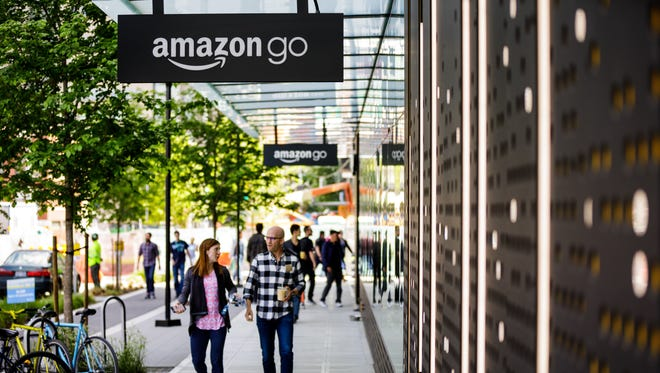 An Amazon Go store near the online retailer's corporate campus in Seattle.