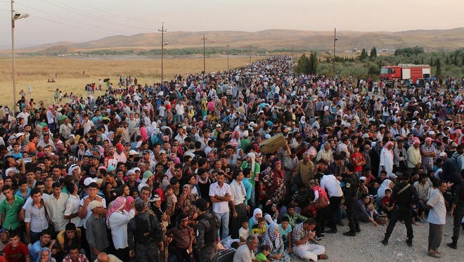 What it looks like in a refugee camp,