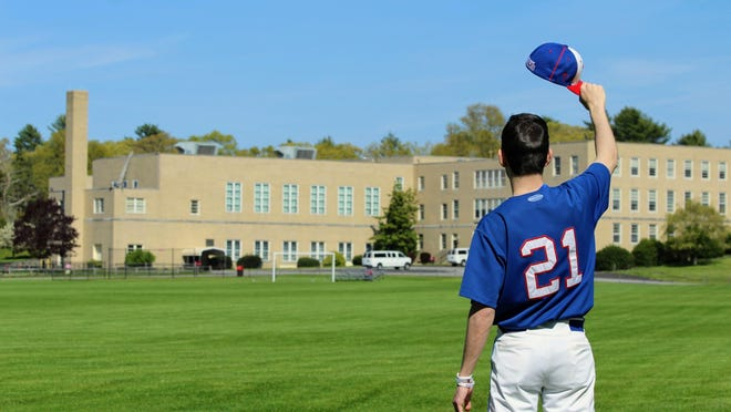 Sacred Heart High senior Michael Hurm salutes his school, which has closed for good due to financial reasons. What was supposed to be Hurm's final baseball season was canceled by the coronavirus pandemic. Contributed photo