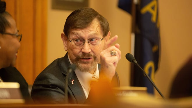 Sen. Bud Estes, R-Dodge City, says he has fully recovered from the coronavirus infection that for weeks drained his energy to the point that it was difficult to get out of bed in the morning. He believes he was infected with the coronavirus at the Capitol.