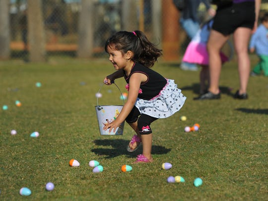 There are several Easter egg hunts across the Treasure Coast, including the Eggstravaganza at 9 a.m. March 31 atWhispering Pines Park, 800 S.W. Darwin Blvd., Port St. Lucie.