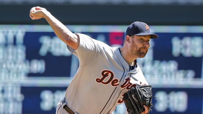 Mike Pelfrey, 0-4 with a 5.68 ERA, is being pushed for a spot in the rotation by youngsters Michael Fulmer, Daniel Norris and Matt Boyd.