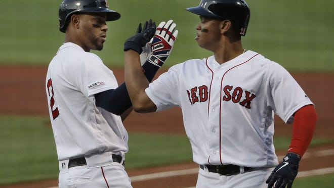 As expected, Xander Bogaerts and Rafael Devers are among the Red Sox players invited to this week's spring training restart.