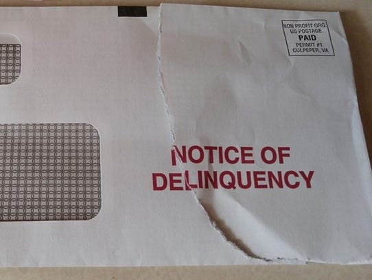 An envelope similar to this one was sent to Springfield