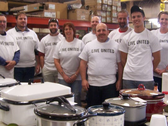 Manowske Welding's United Way Company Campaign Team members include, from left: John Farley, Joshua Marschie, Jamie Cleland, Tammy Siebel, Steve Reinke, Dennis Sabel, Greg Opatik, Ryan Triatik and Tammy Blankenhiem.