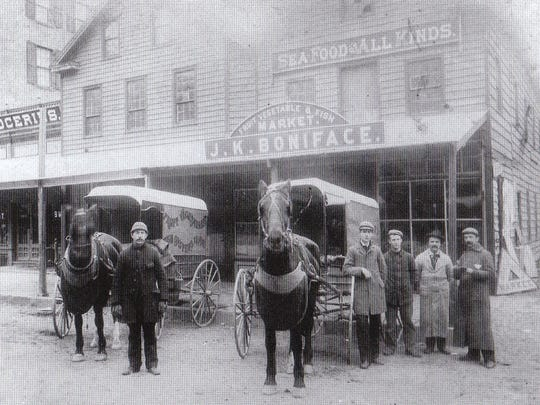 The JK Boniface market, South Street, Morristown, circa