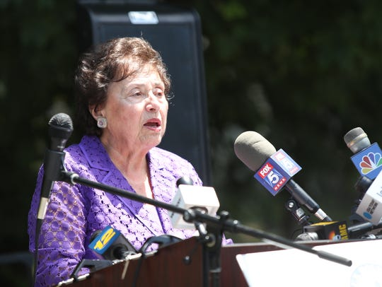 Congresswoman Nita Lowey holds a press conference after