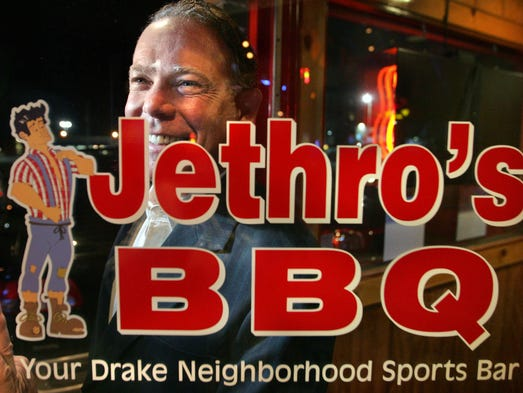 Jethro's owner Bruce Gerleman at the Drake location, 3100 Forest Ave. in Des Moines.