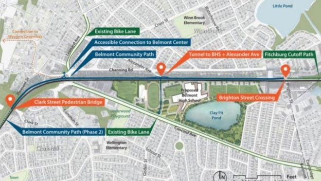 An overview of the 25% design for Belmont's community path presented on July 16, 2020 by Nitsch Engineering.