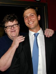 """Michael Moore once ran in the same circles as the Trump family: Ivanka's husband, Jared Kushner, hosted a screening and party for Moore's documentary """"Sicko"""" in 2007."""