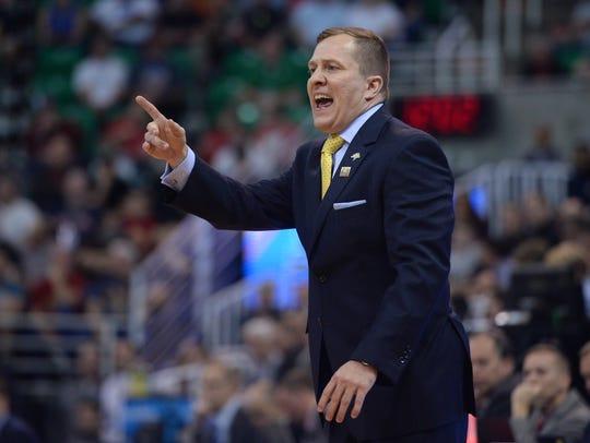 South Dakota State Jackrabbits head coach T. J. Otzelberger