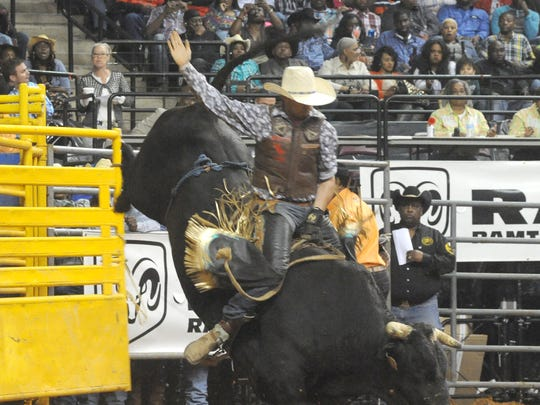Bull Riding action at the RCA National Black Rodeo