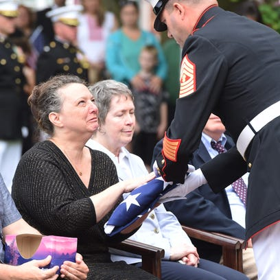 """There will never be another like you"": family,friends say goodbye to fallen Marine"