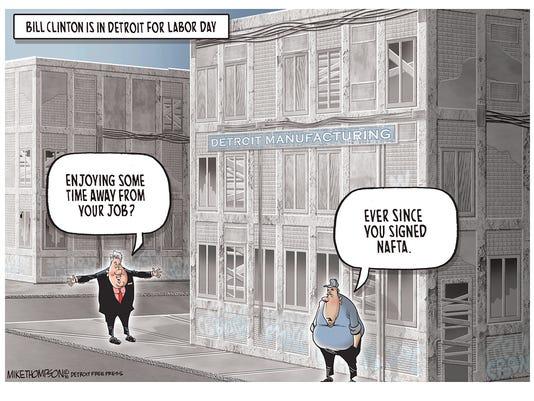 Bill Clinton in Detroit
