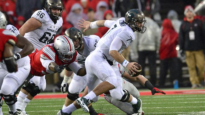 Tyler O'Connor's first start at Michigan State came in front of friends and family at Ohio State. They traveled from his hometown of Lima.