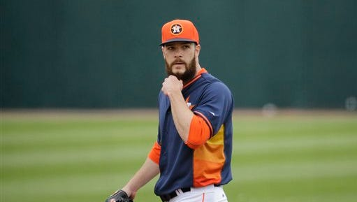 Houston Astros starting pitcher Dallas Keuchel is looking for a bounce back season.