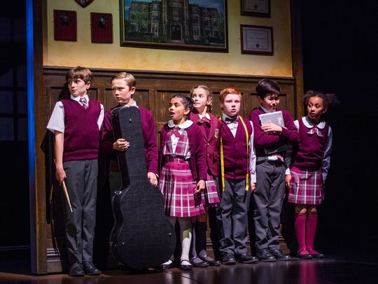 "Some of the kids in the ""School of Rock"" touring production"