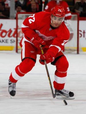 Red Wings forward Andreas Athanasiou