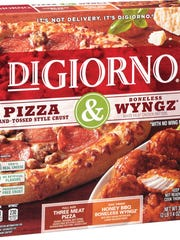 "This photo provided by Nestle USA shows a package containing DiGiorno pizza and boneless Wyngz. DiGiorno owner Nestle said it initially wanted to call the boneless chicken pieces ""wings,"" since it believes people understand that ""boneless wings"" are not whole wings. The company says the USDA instead proposed ""wyngz."""