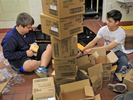 care food pantry helps the needy while helping center