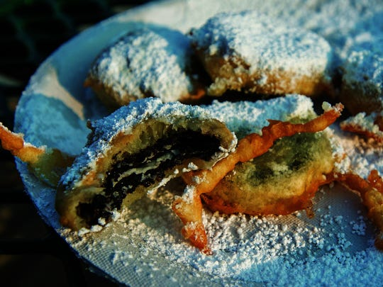 When eating fried Oreos, the cookie flavor is layered. First you get the warm, crisp dough and the sugar. Then you get the warm Oreo cookie, with its melted icing.