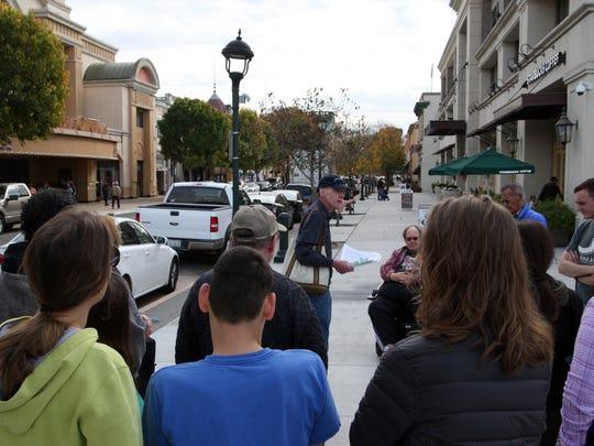 John Mahoney stands on the spot where he said Salinas began