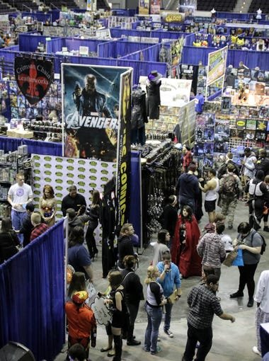 Thousands of people filled Pensacola Bay Center during the 2nd annual Pensacon Saturday.