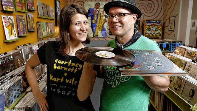 Spoonful Records owners Amy Kesting and Brett Ruland are celebrating the 10-year anniversary of their store.