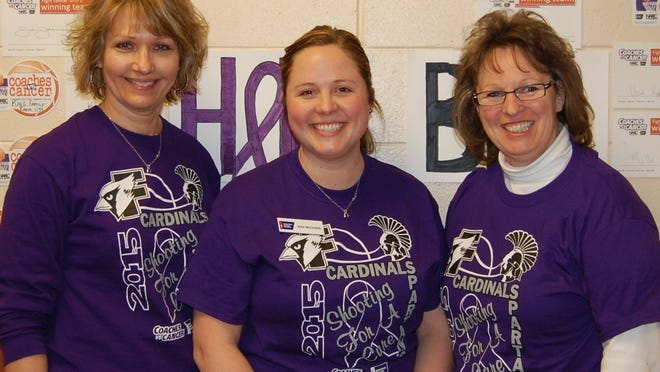 Laurie Quackenboss, left, event people lead; Katie McCormick, Relay For Life manager; and Becky O'Brien, event experience lead, are just three members of the Relay For Life Committee gearing up to start the 2015 Relay For Life season.