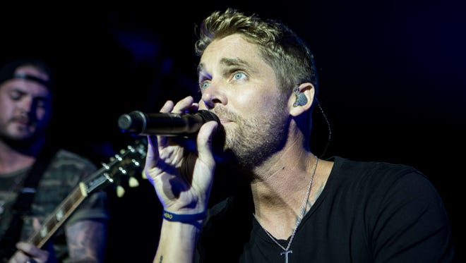 Brett Young performs at the U.S. Cellular Stage on July 5.