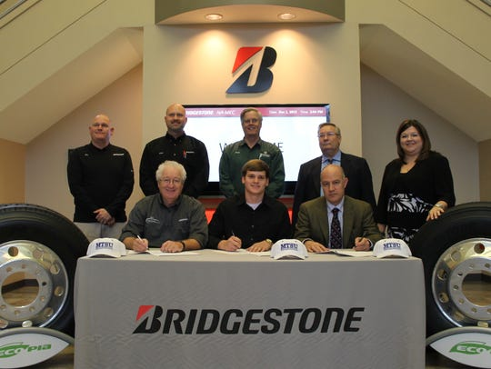 Back row: Left to right, Joe Williams, Bridgestone
