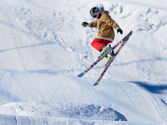 The cold weather Sunday did not stop Isaac Fromm, 15, St. Joseph, from taking the jumps in the terrain park Sunday, Jan. 4 at Powder Ridge Ski Area in Kimball.