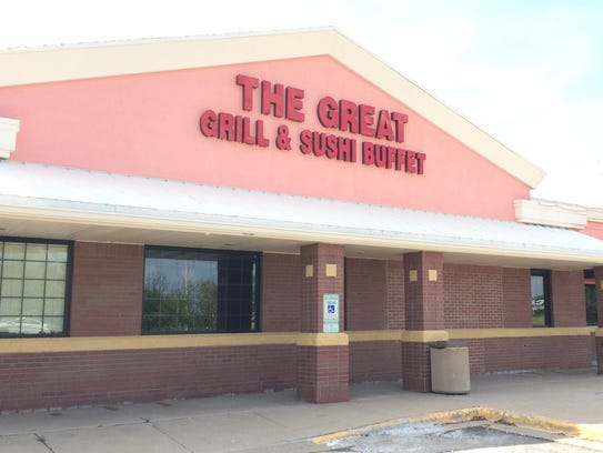 The Great Grill & Sushi Buffet closed in August 2014