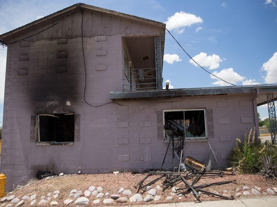 Two people were injured when a fire broke out at the closed Sage North Motel early Friday in Farmington.