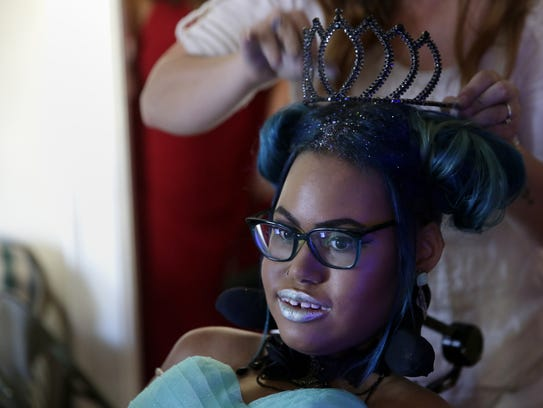 Jerika Bolen, here preparing for her special prom in