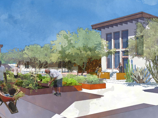 "A rendering of what the community of ""micro-estates"" in Tempe is expected to look like."